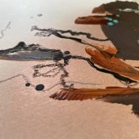 """""""Stadt mit Spiegelung"""" 24 x 32 cm Acrylbild auf Künstlerpapier Bild 5"""