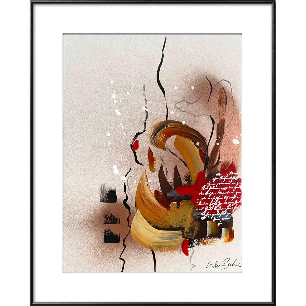 """""""Liebesbrief"""" 24 x 32 cm Acrylbild auf Künstlerpapier Bild 1"""