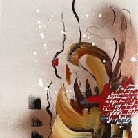 """""""Liebesbrief"""" 24 x 32 cm Acrylbild auf Künstlerpapier Bild 2"""