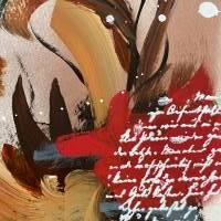 """""""Liebesbrief"""" 24 x 32 cm Acrylbild auf Künstlerpapier Bild 3"""