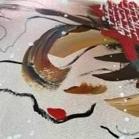 """""""Liebesbrief"""" 24 x 32 cm Acrylbild auf Künstlerpapier Bild 5"""