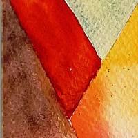 Farbige Formen - Original Aquarellmalerei, gerahmtes Unikat Bild 3