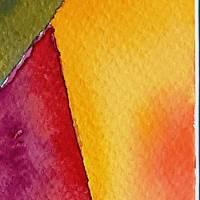 Farbige Formen - Original Aquarellmalerei, gerahmtes Unikat Bild 5