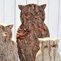 Eulen aus Holz 3er Set Herbstdeko, Winterdeko, Stückpreis 15 Euro Bild 4