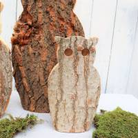 Eulen aus Holz 3er Set Herbstdeko, Winterdeko, Stückpreis 15 Euro Bild 5