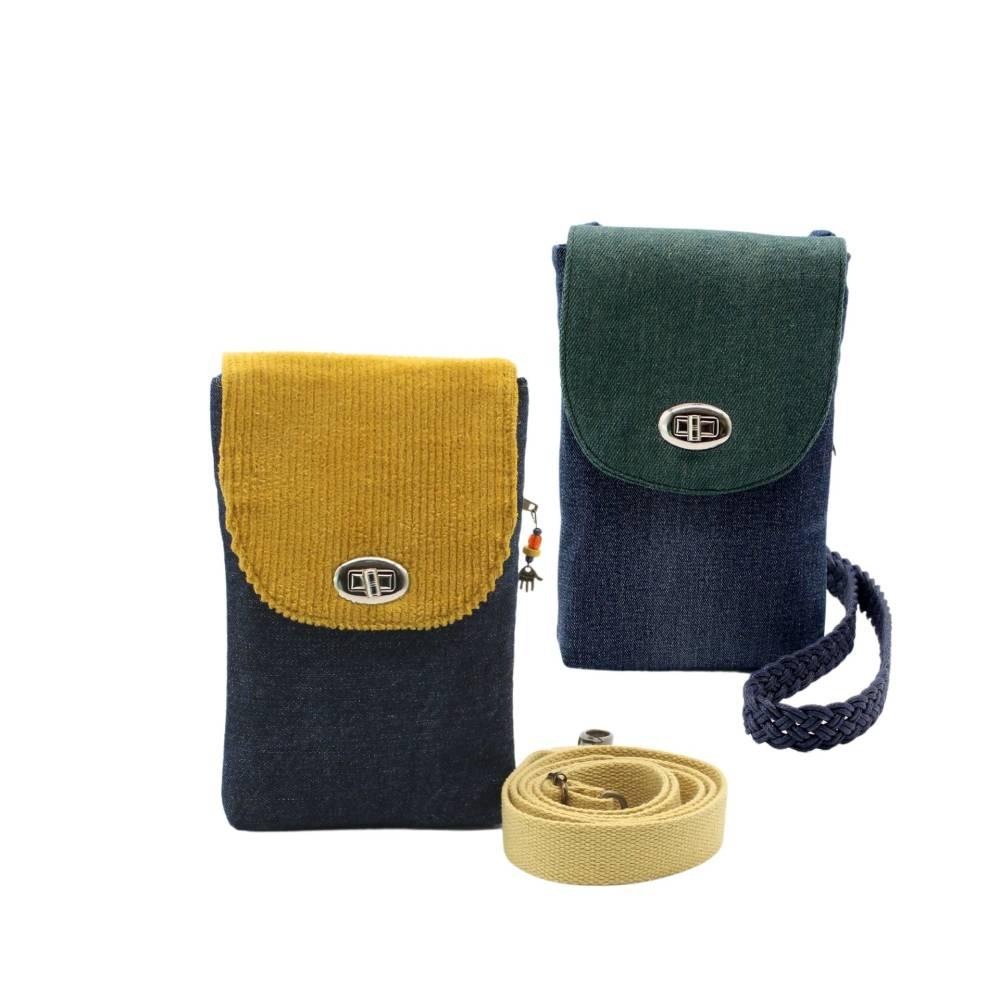 Handytasche XL, kleine Schultertasche, Umhängetasche Bild 1
