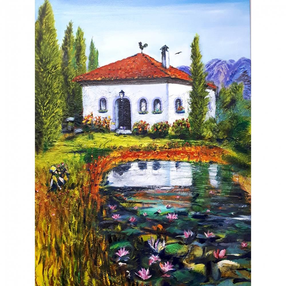 Toskana - Ölmalerei, Unikat Bild 1