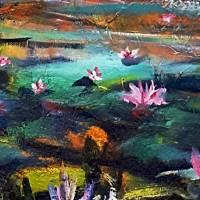 Toskana - Ölmalerei, Unikat Bild 2
