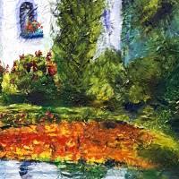 Toskana - Ölmalerei, Unikat Bild 3