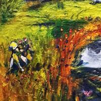 Toskana - Ölmalerei, Unikat Bild 5