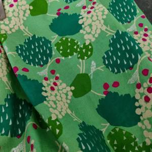 Große Einkaufstasche aus Canvas in grün mit Lederhenkel Bild 4