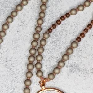 Halskette aus Glasperlen mit Anhänger in rosegold Bild 4