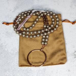 Halskette aus Glasperlen mit Anhänger in rosegold Bild 5