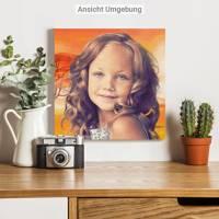 Personalisiertes Kinder Portrait von Deinem Foto Bild 2