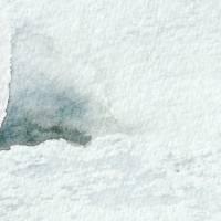 Mit Flossen durch den Schnee - Original Aquarellmalerei, gerahmtes Unikat Bild 4