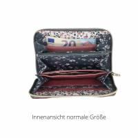 Geldbörse in zwei Größen, ein geräumiges Portemonnaie mit Reißverschluss, Geldbeutel, Portmonee Bild 5