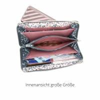 Geldbörse in zwei Größen, ein geräumiges Portemonnaie mit Reißverschluss, Geldbeutel, Portmonee Bild 9