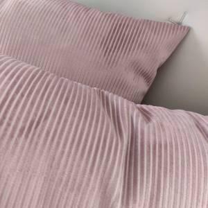 Samtkissen in rosa  Cord Optik Bild 4