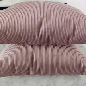 Samtkissen in rosa  Cord Optik Bild 5