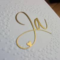 """Hochzeitskarte, Glückwunschkarte zur Hochzeit """"Ja"""" aus der Manufaktur Karla Bild 4"""