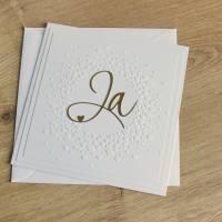 """Hochzeitskarte, Glückwunschkarte zur Hochzeit """"Ja"""" aus der Manufaktur Karla Bild 9"""