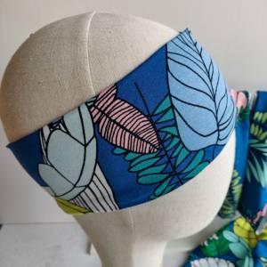 Mütze, Loop und Stirnband bunte Blätter Bild 2