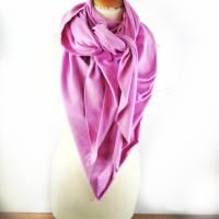 Großes, kuschliges Dreiecktuch / Schultertuch in Rosa aus Sweatstoff  Bild 2