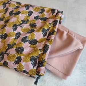 Mütze, Loop und Stirnband in zartem rosa Bild 6