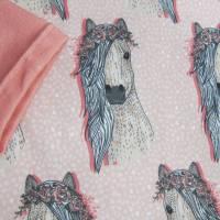 Romantische Pferde Baby Hoody Sweatshirt in Öko Baumwolle  Größe 122,  Schlupf Hoodie Pastelfarben. Bild 7