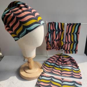 Mütze, Loop und Stirnband im retro Design Bild 2