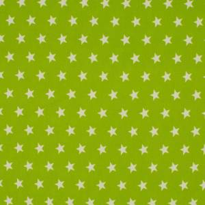 7,50EUR/m Baumwoll-Webware Sterne auf hellgrün lime Bild 1