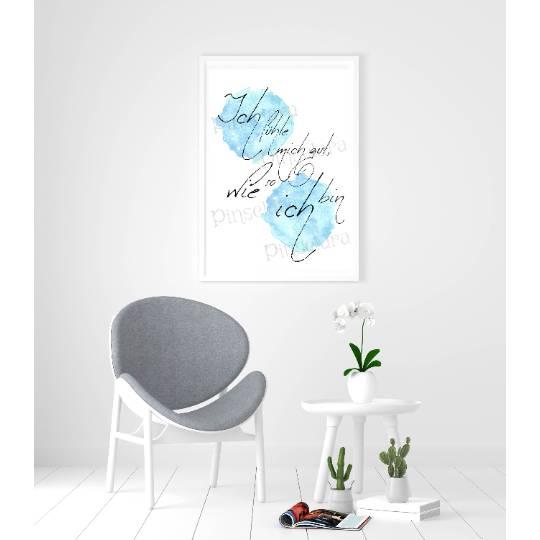 Kunstdruck Poster - Spruchserie, verschiedene Motive, dein Lieblingsbild als Poster für dein Zuhause (ohne Rahmen) Bild 1