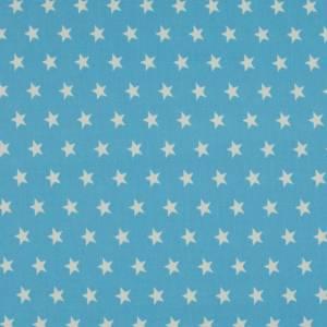 7,50EUR/m Baumwoll-Webware Sterne auf hellblau Bild 1