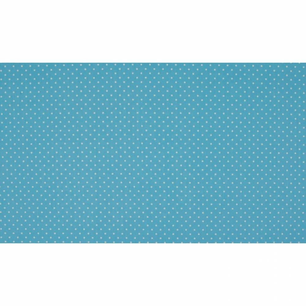 7,50EUR/m Baumwoll-Webware small dots in hellblau Punkte Bild 1