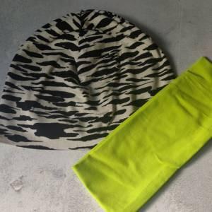 Mütze, Loop und Stirnband im Zebra Look Bild 6