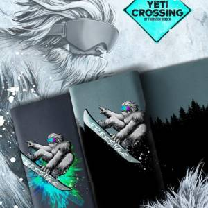 """18,63EUR/m French Terry Panel """"Yeti Crossing"""" mit Farbe by Thorsten Berger Bild 4"""
