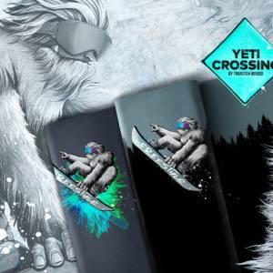 "18,63EUR/m French Terry Panel ""Yeti Crossing"" mit Wald by Thorsten Berger Bild 5"
