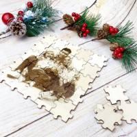 Foto als Puzzle, Weihnachtsgeschenk für Sie oder Ihn, dein eigener Text oder Bild in Form eines Puzzles Bild 1