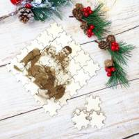 Foto als Puzzle, Weihnachtsgeschenk für Sie oder Ihn, dein eigener Text oder Bild in Form eines Puzzles Bild 2