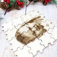 Foto als Puzzle, Weihnachtsgeschenk für Sie oder Ihn, dein eigener Text oder Bild in Form eines Puzzles Bild 3
