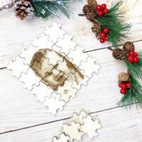 Foto als Puzzle, Weihnachtsgeschenk für Sie oder Ihn, dein eigener Text oder Bild in Form eines Puzzles Bild 4