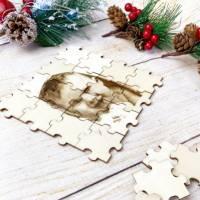 Foto als Puzzle, Weihnachtsgeschenk für Sie oder Ihn, dein eigener Text oder Bild in Form eines Puzzles Bild 5