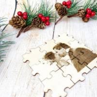 Foto als Puzzle, Weihnachtsgeschenk für Sie oder Ihn, dein eigener Text oder Bild in Form eines Puzzles Bild 6