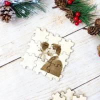 Foto als Puzzle, Weihnachtsgeschenk für Sie oder Ihn, dein eigener Text oder Bild in Form eines Puzzles Bild 7
