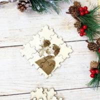 Foto als Puzzle, Weihnachtsgeschenk für Sie oder Ihn, dein eigener Text oder Bild in Form eines Puzzles Bild 8