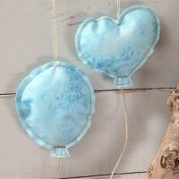 Luftballons aus Stoff hellblau Bild 1