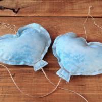 Luftballons aus Stoff hellblau Bild 2