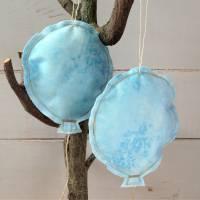 Luftballons aus Stoff hellblau Bild 6