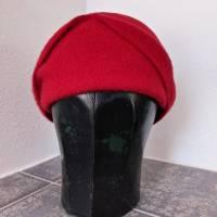 Kappe Filzhut Cloche Rot Bild 1