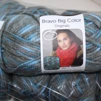 Strickgarn Big Bravo color Fb. 89, bunt, 200gr. Knäuel, Schalwolle, Nd. 10 Bild 1
